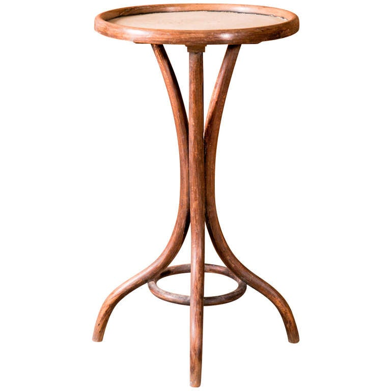 Thonet Bent Wood Side Table For Sale