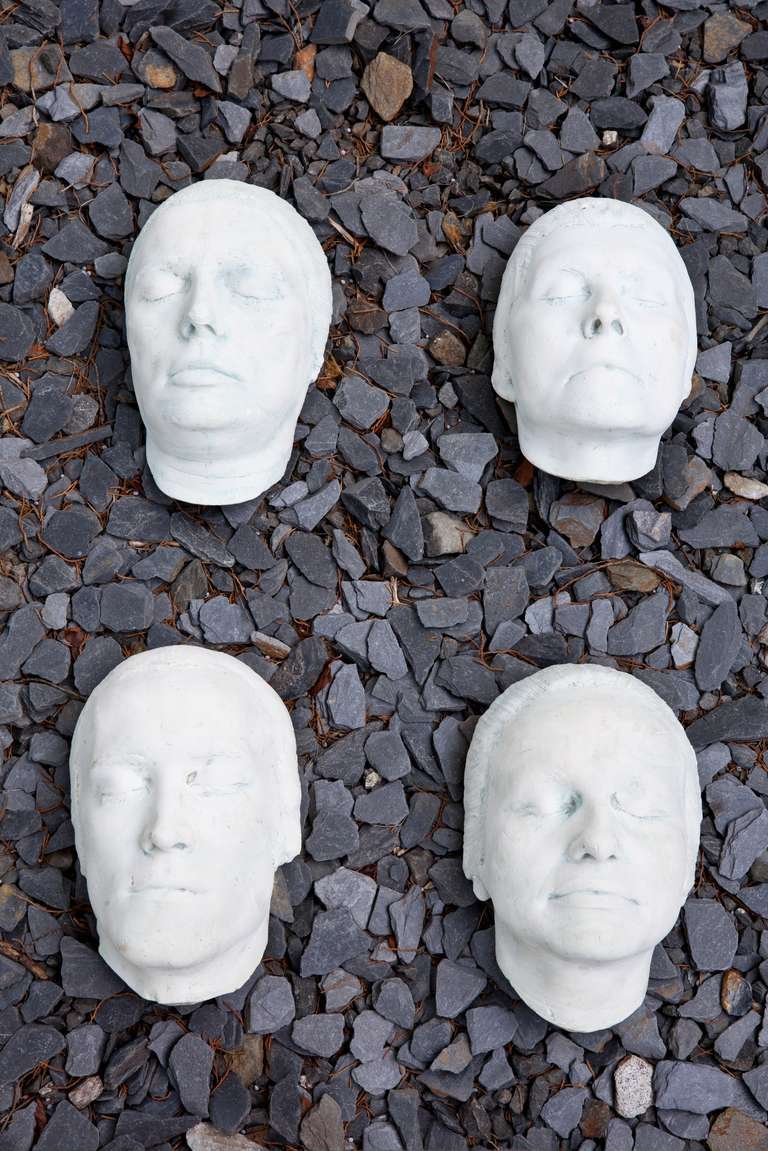 Collection of 12 Rare Plaster Masks of Human Faces 2