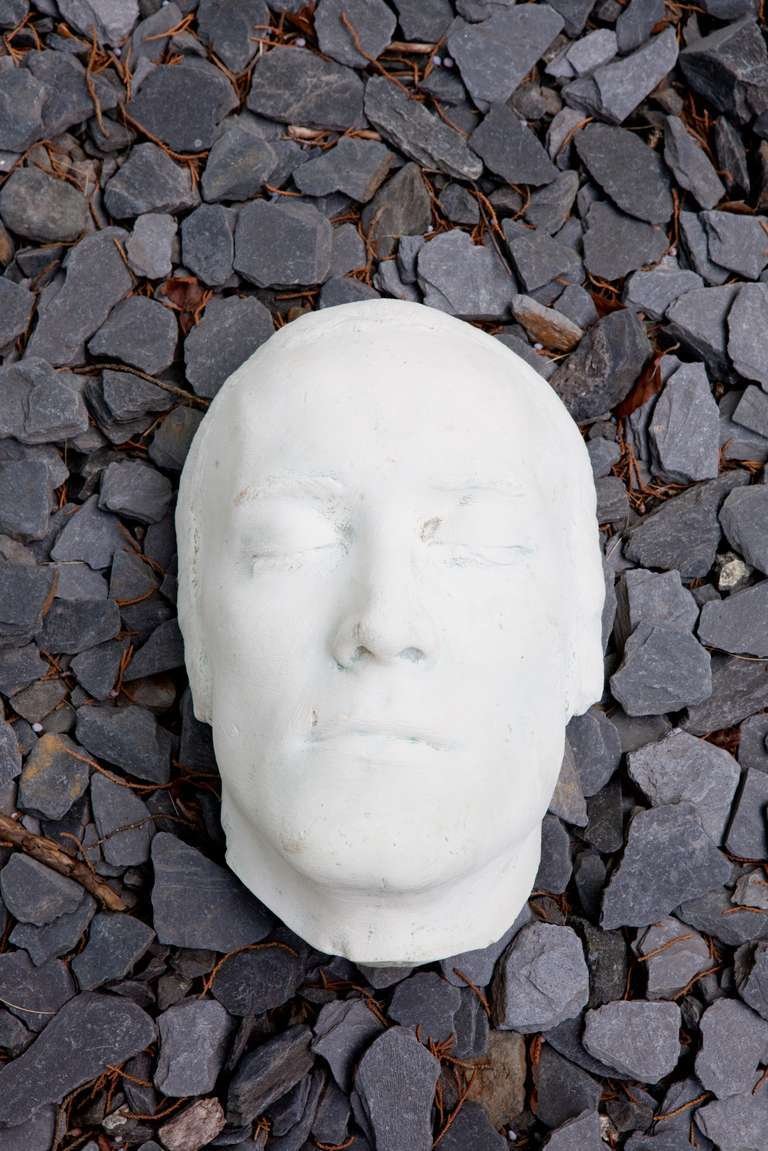 Collection of 12 Rare Plaster Masks of Human Faces 3