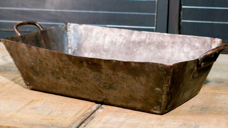 Vintage German Metal Handmade Industrial Trough 2