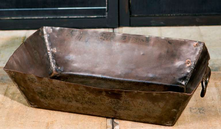Vintage German Metal Handmade Industrial Trough 3