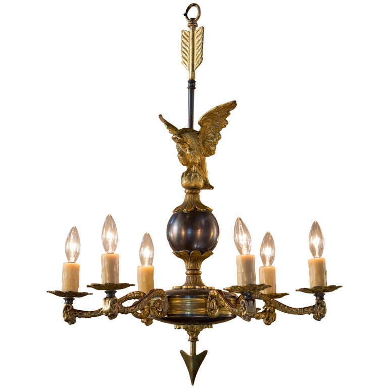 Vintage French Empire Style Chandelier at 1stdibs