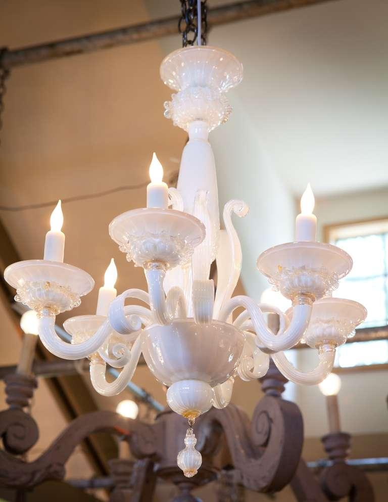 Vintage Italian Murano Glass Chandelier at 1stdibs – White Murano Chandelier