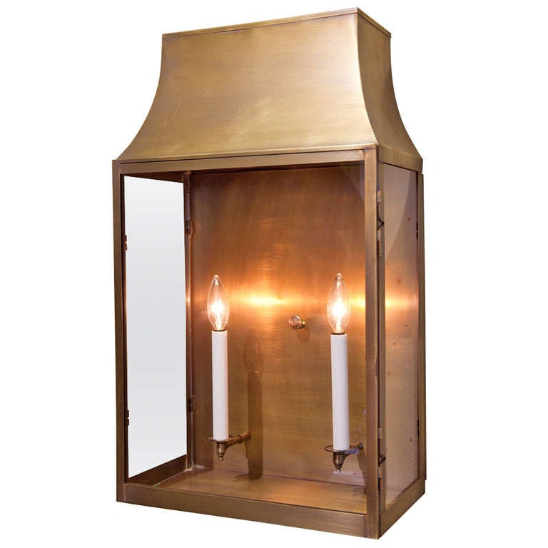Wall Lantern Indoor : Custom Indoor/ Outdoor Brass