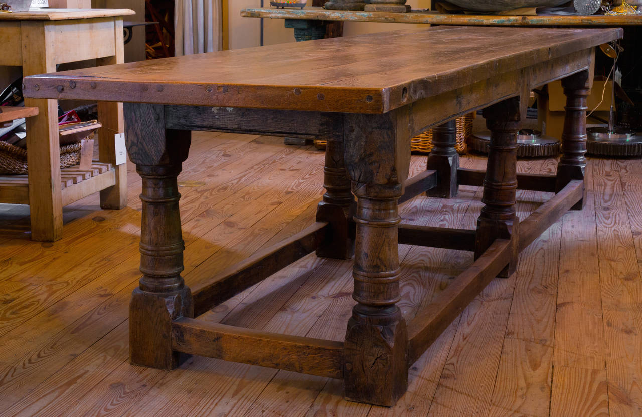 Antique Oak Table From Belgium, Circa 1900. Would Be Magnificent In A Great  Room