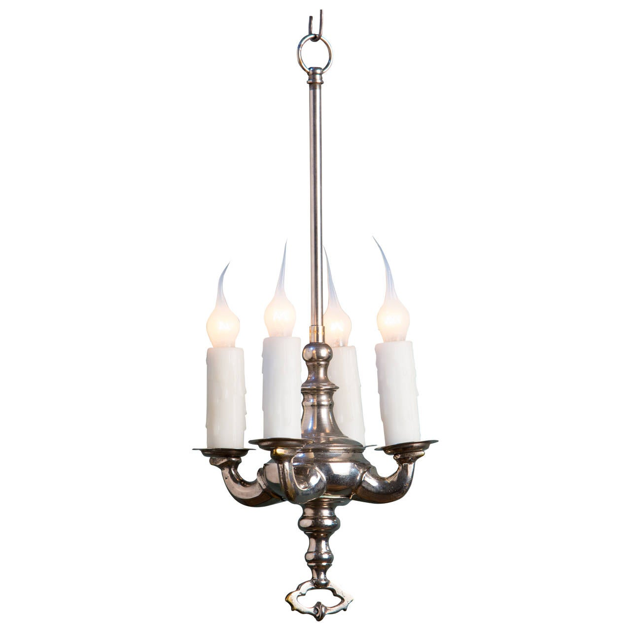 Vintage French Nickel Chandelier at 1stdibs