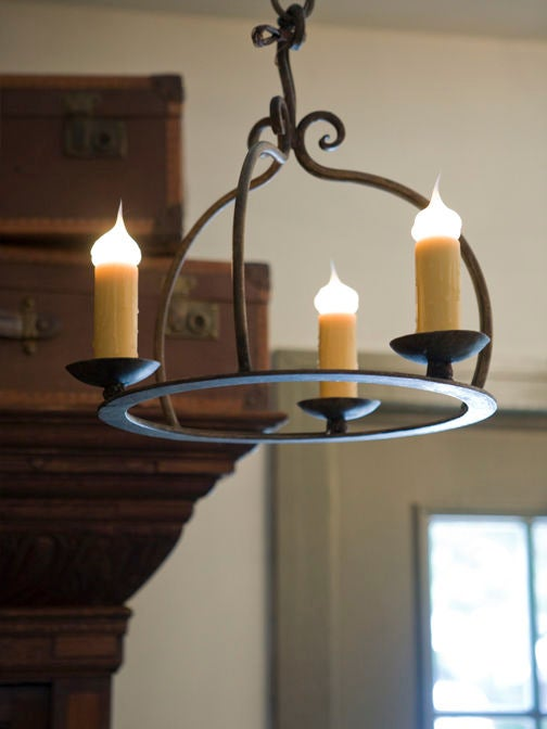 Hand Forged Iron Quot Miami Quot Chandelier For Sale At 1stdibs