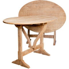 """antique, oval """"wine"""" table from Belgium"""