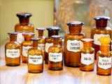 Blown Glass Pharmacy Bottles with Painted Labels image 10