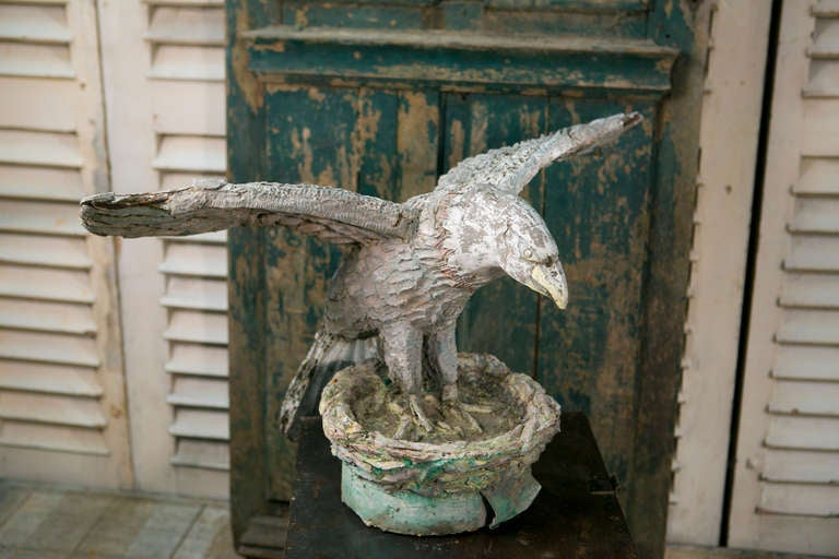Antique French Concrete Eagle At 1stdibs