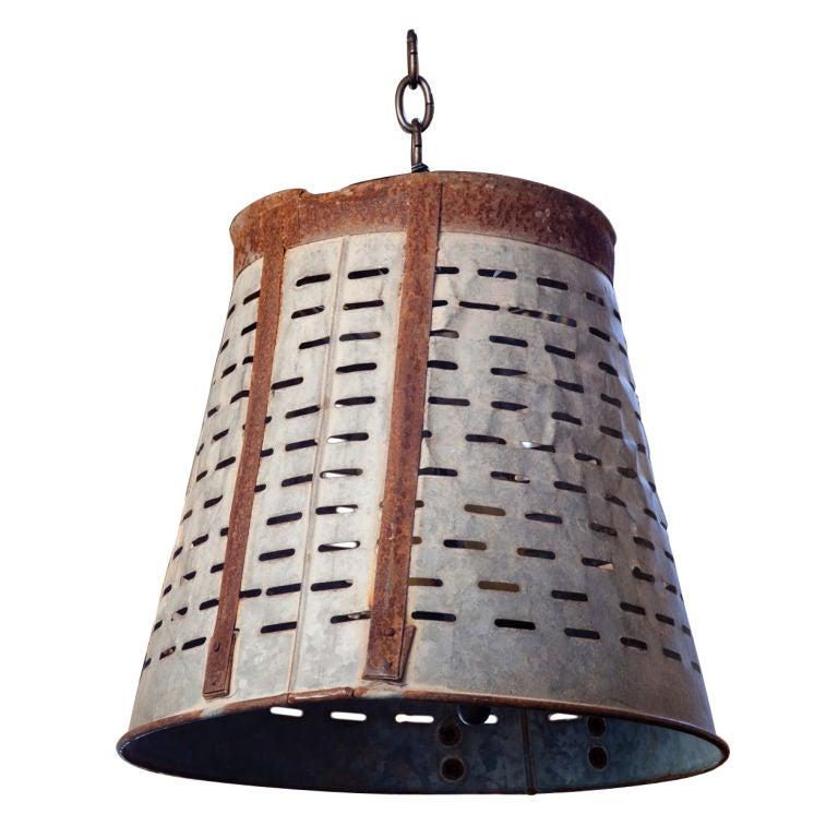 Items Similar To Galvanized Light Rustic Industrial: Rustic Galvanized Pendant At 1stdibs