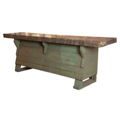 Antique store counter with original top and finish