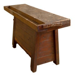 Antique workbench/console