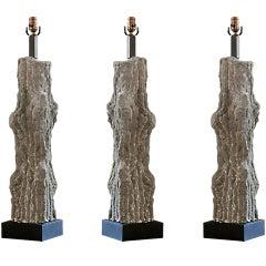 Stone Faux Bois Table Lamp