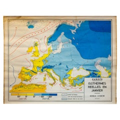 Monumental Meteorological Chart of Weather in Europe 'January'