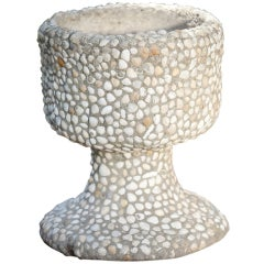 Handmade Vintage French Stone and Shell Planter