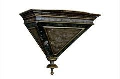 Pair of painted Italian brackets