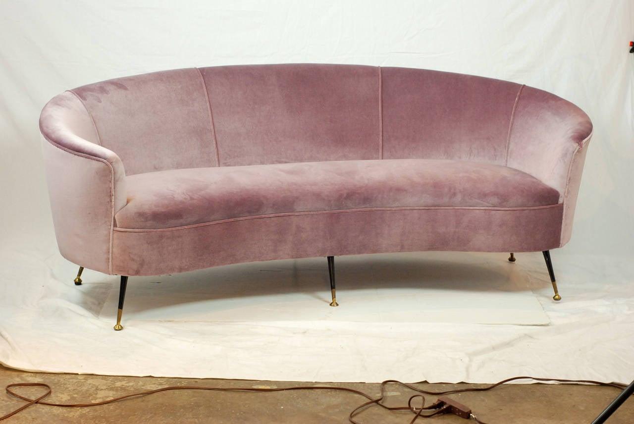 midcentury italian lavender settee at 1stdibs. Black Bedroom Furniture Sets. Home Design Ideas