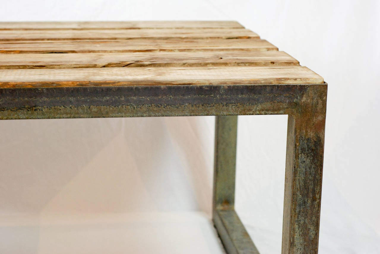 Vintage Teak And Steel Coffee Table For Sale At 1stdibs
