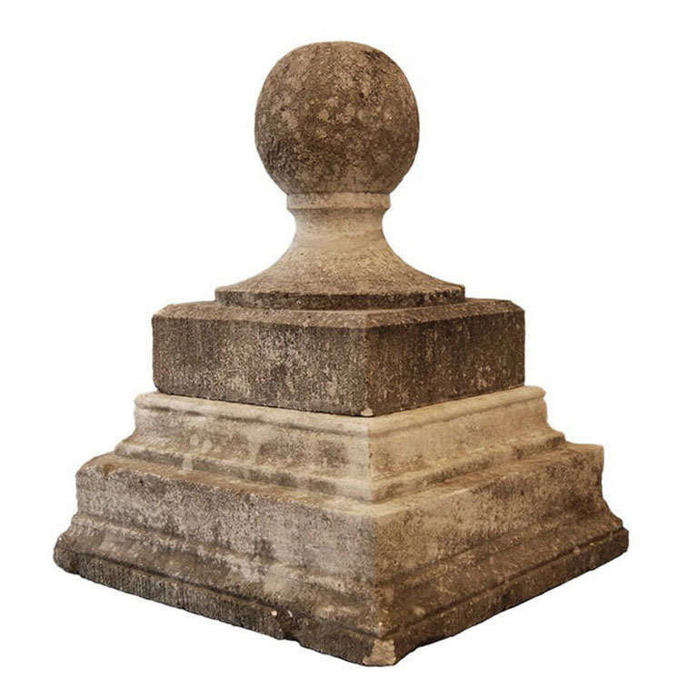 Carved Stone Finial For Sale