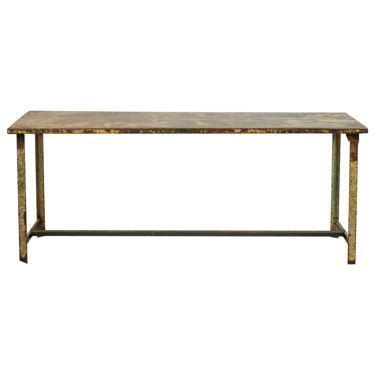Vintage French Iron Military Table
