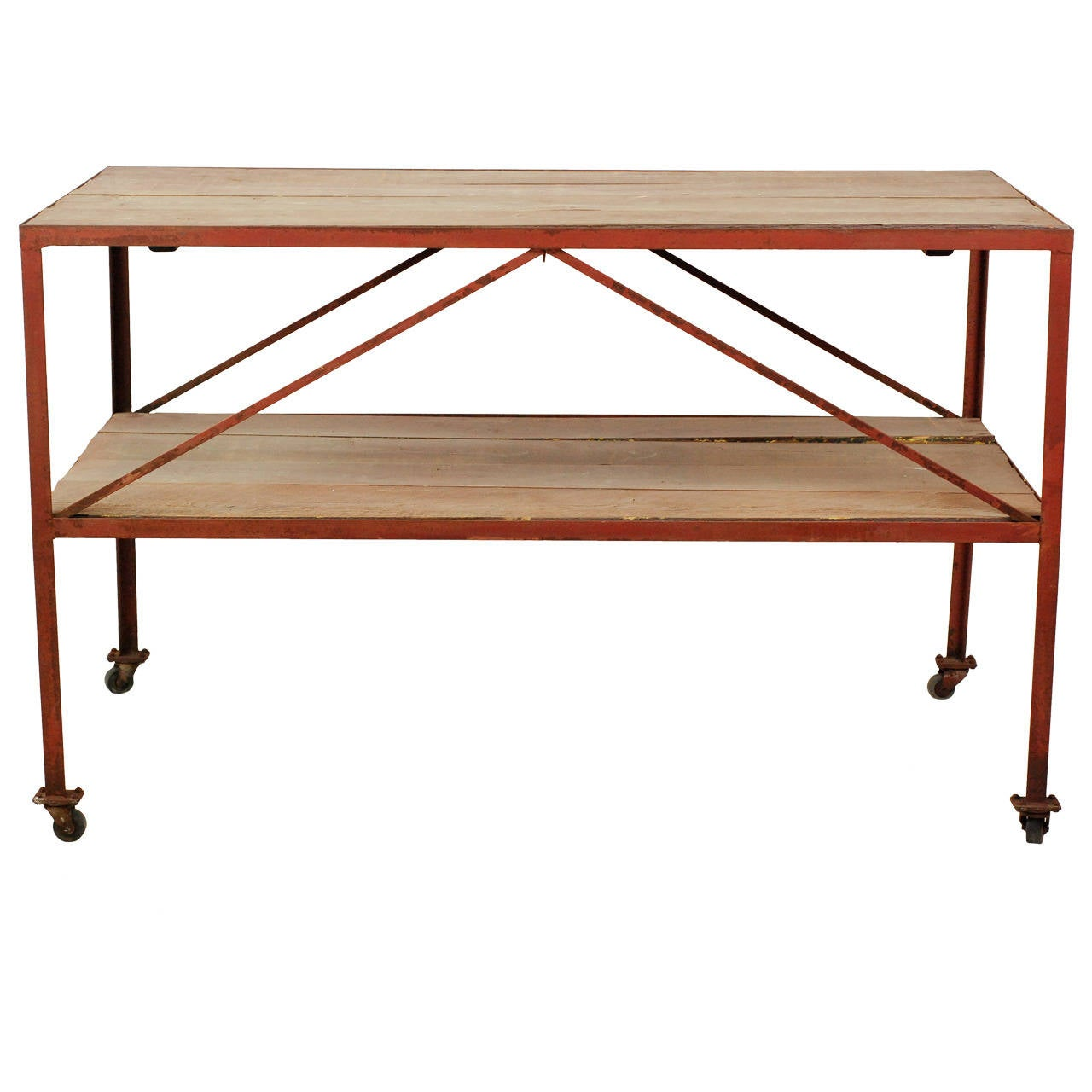 Two Tier Iron Work Table At 1stdibs