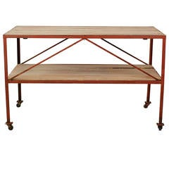 Two-Tier Iron Work Table