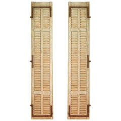 Pair of French Slatted Shutters