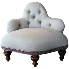 18th C. Petite Tufted Chair