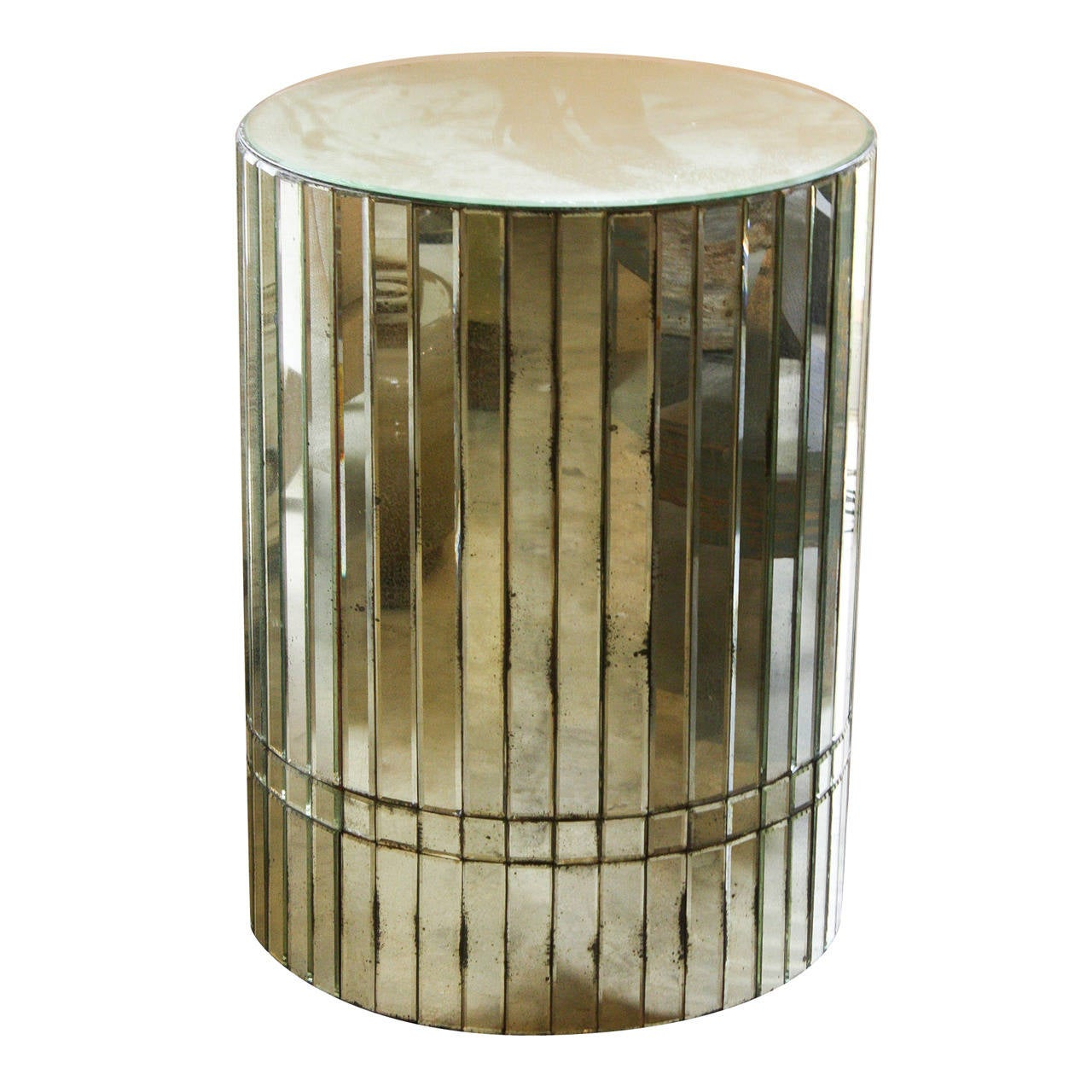 Vintage mirrored side table for Retro end tables