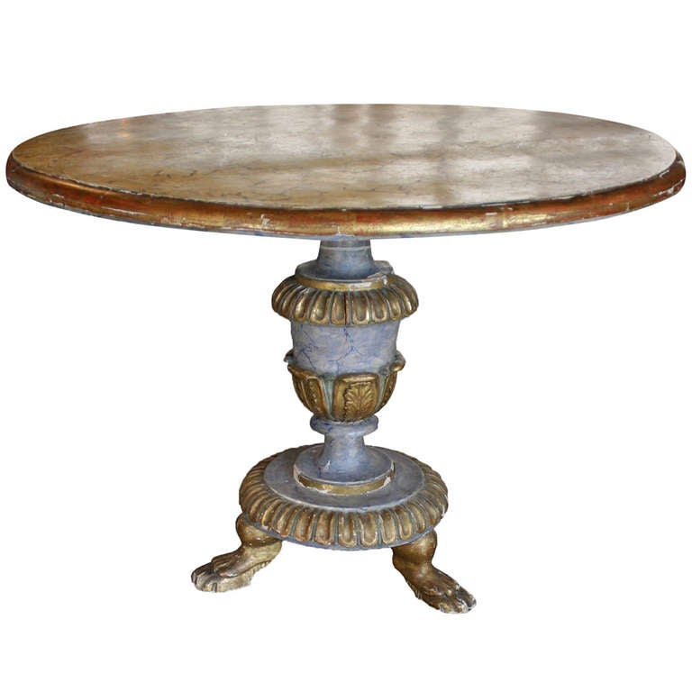 italian faux painted pedestal table at 1stdibs