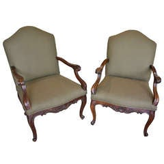 Pair of 18th Century Carved Armchairs