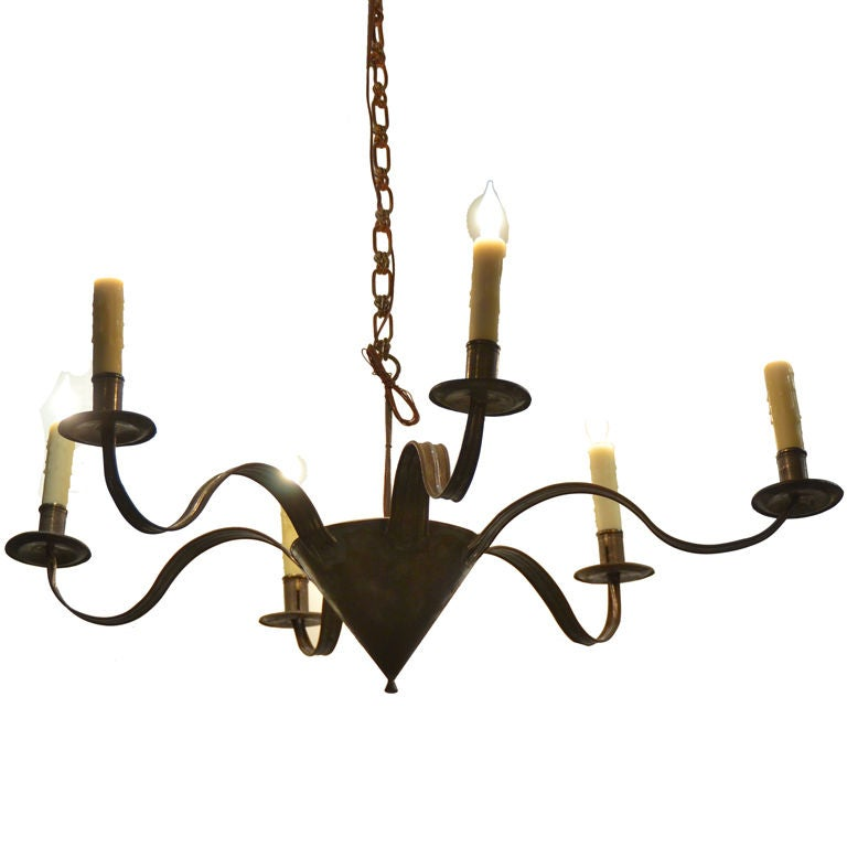 French Tole Chandelier At 1stdibs