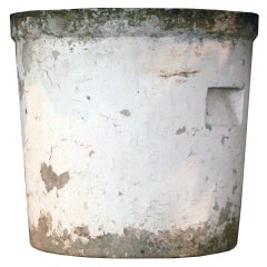 Barrel shaped planter, French