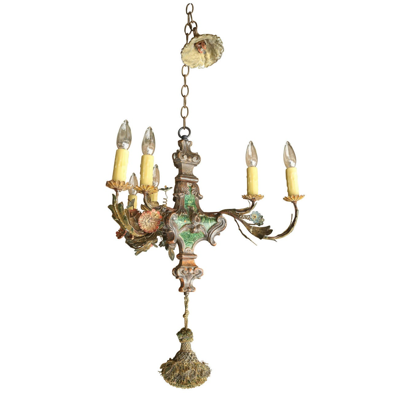 Small Painted Italian Chandelier For Sale At 1stdibs