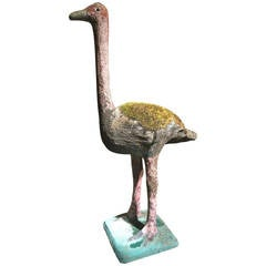 20th Century Cement Ostrich by Emile Taugourdeau