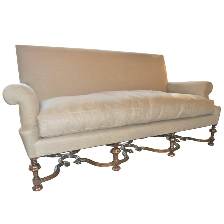 C. English William And Mary Style Sofa At 1stdibs