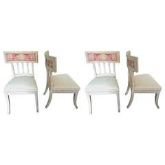 Four Swedish Gustavian Side Chairs