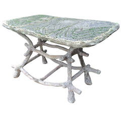Unusual 20th Century French Cement Garden Table