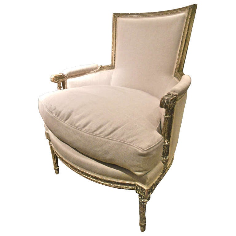 18th century french louis xvi painted bergere at 1stdibs. Black Bedroom Furniture Sets. Home Design Ideas
