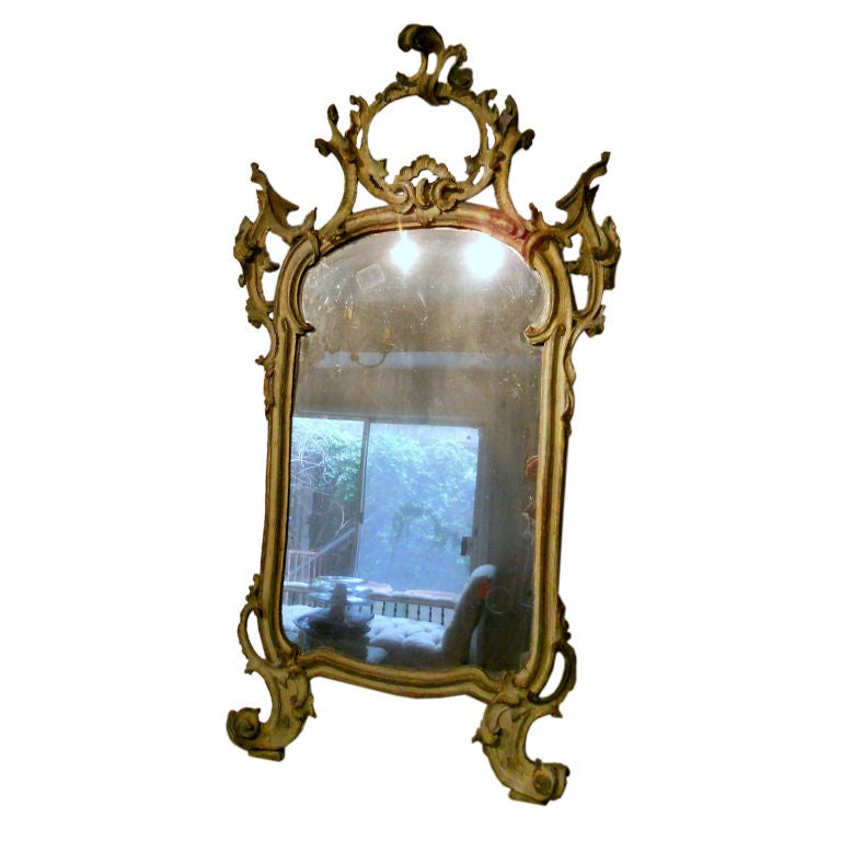 18th Century Venetian Lacquered Mirror At 1stdibs
