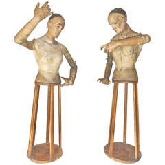 Pair of late 18th./early 19th. Century Articulated Figures