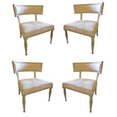 Set of Four Swedish Gustavian Kilsmos Chairs Stamped ES