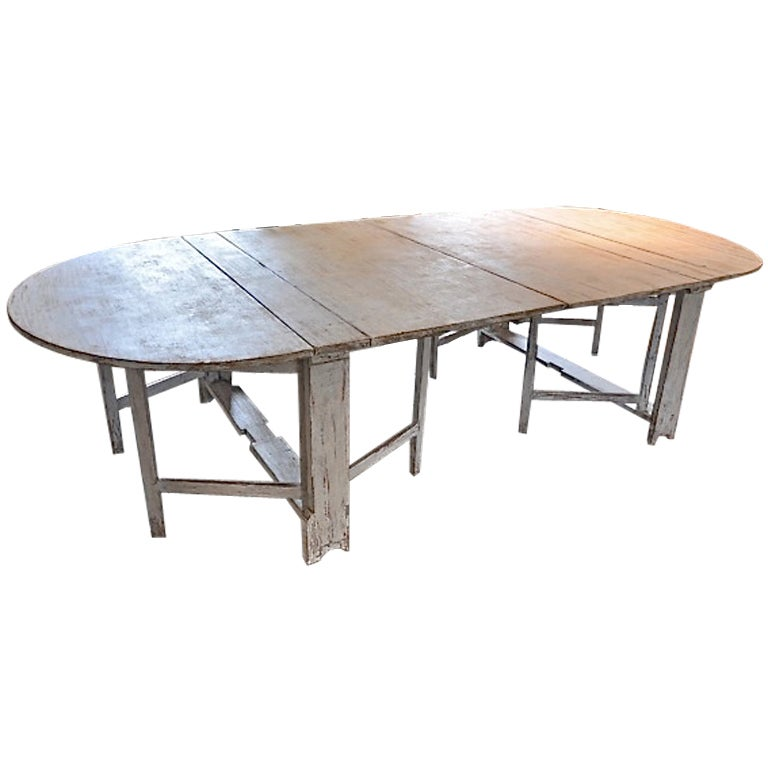 Swedish Painted Double Drop Leaf Gate Leg Dining Table at  : XXX846913496375891 from www.1stdibs.com size 768 x 768 jpeg 38kB