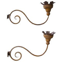 Pair 18th Century Applique Wall Sconces