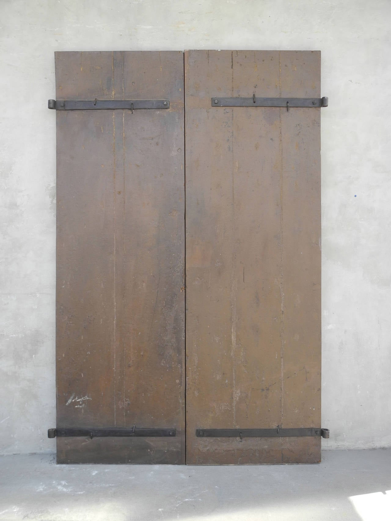 Pair of Antique 17th Century Doors with Nailhead Detailing 3