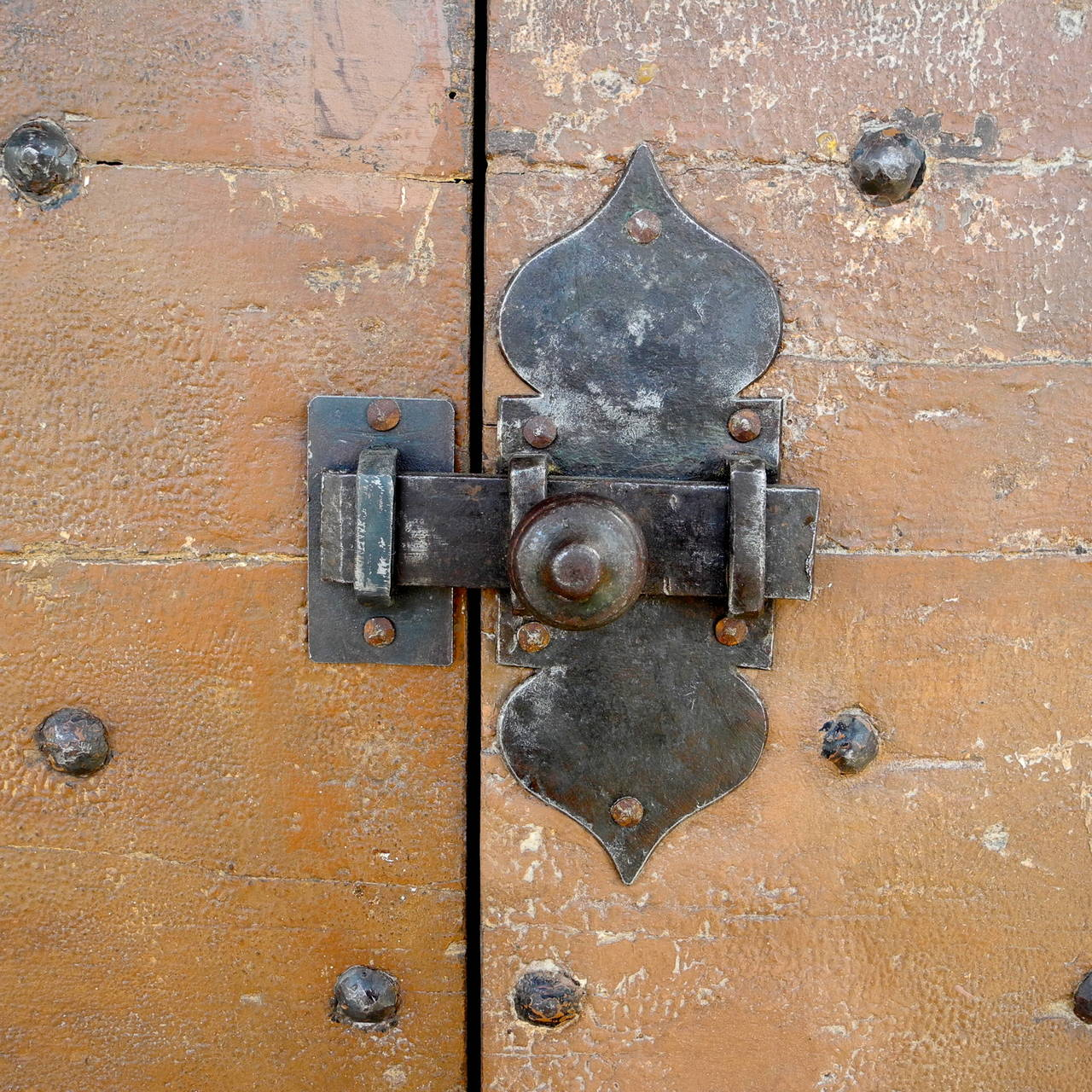 Pair of Antique 17th Century Doors with Nailhead Detailing 4