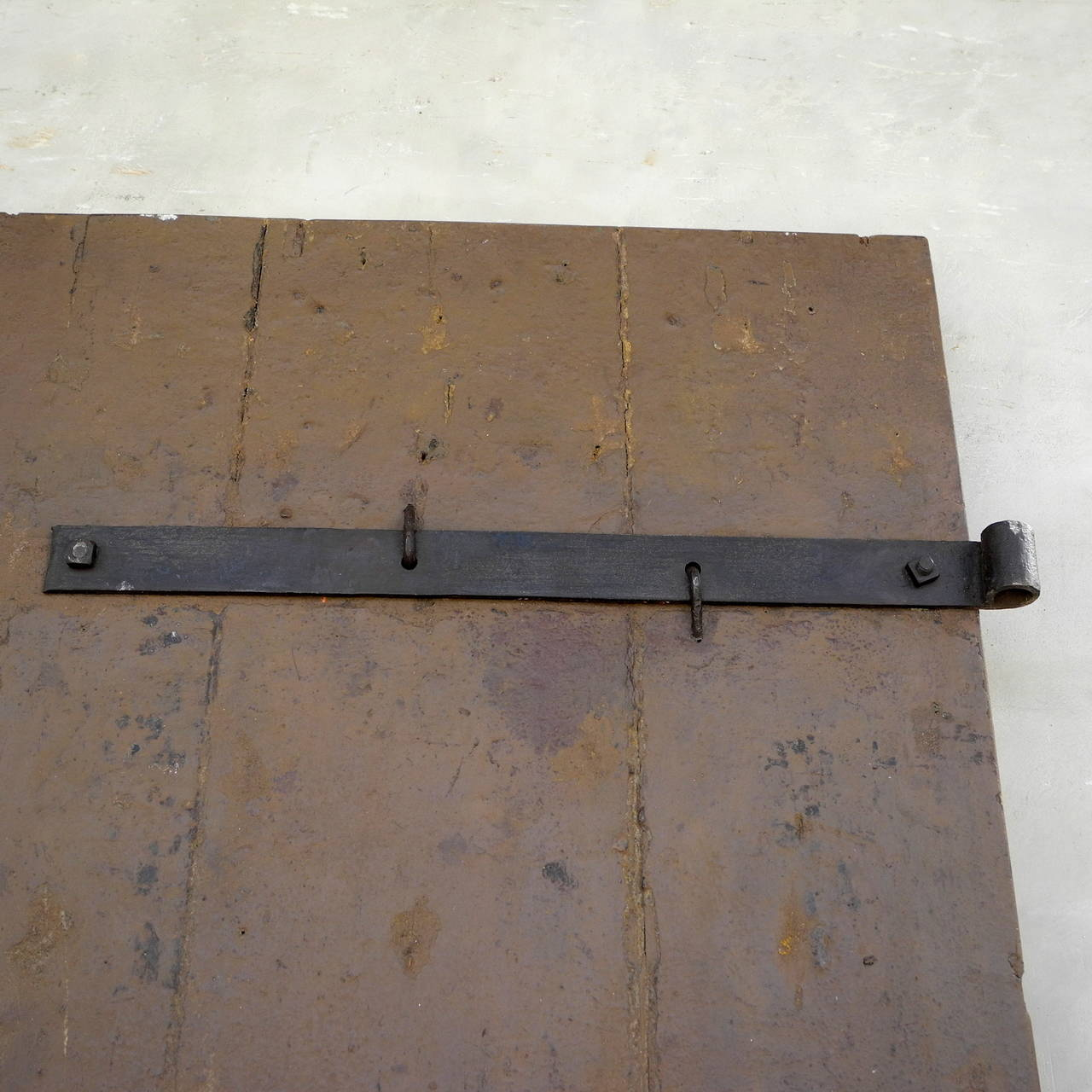 Pair of Antique 17th Century Doors with Nailhead Detailing 5