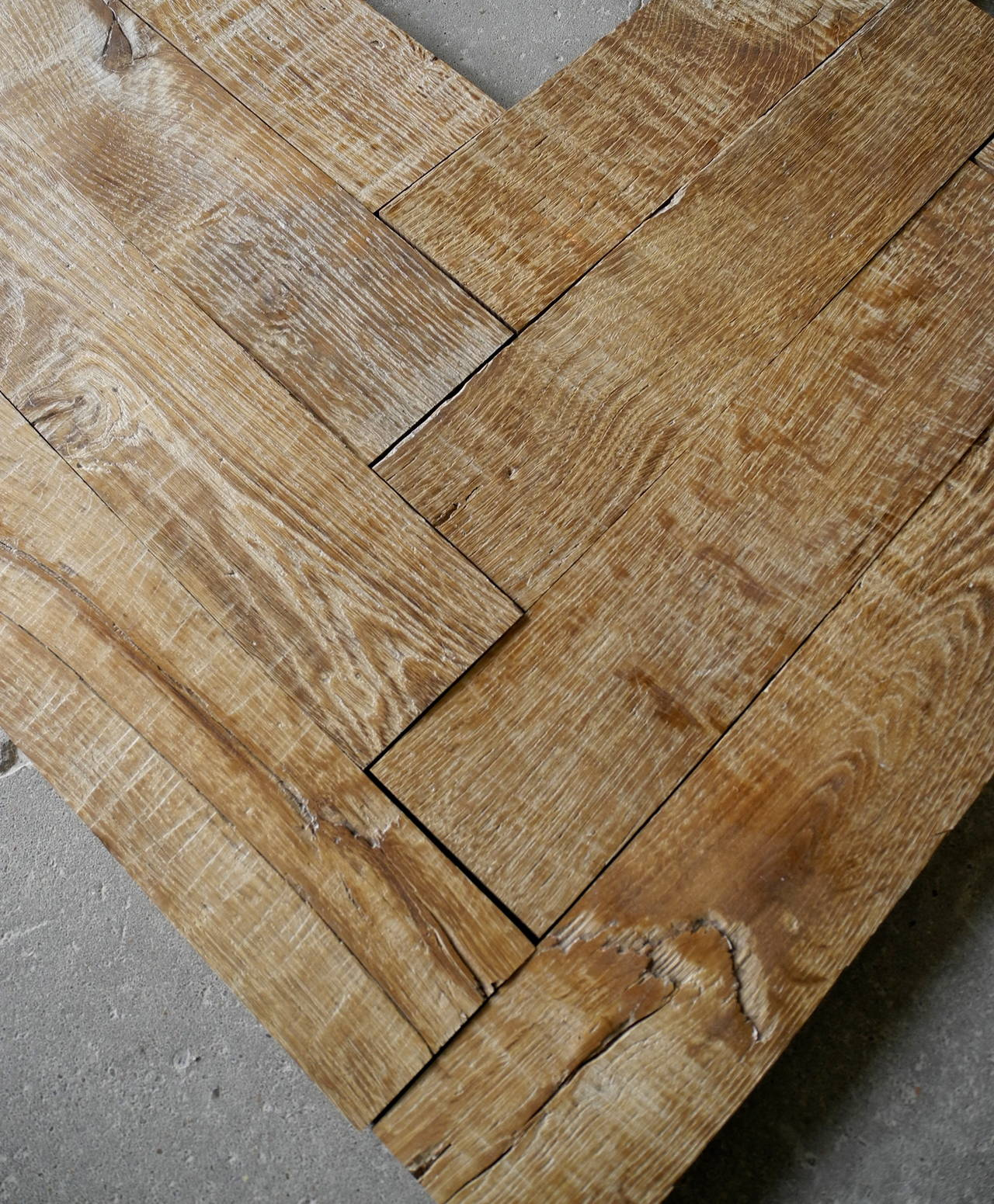 18th Century French Oak Chevron Wood Flooring In Good Condition For Houston Tx