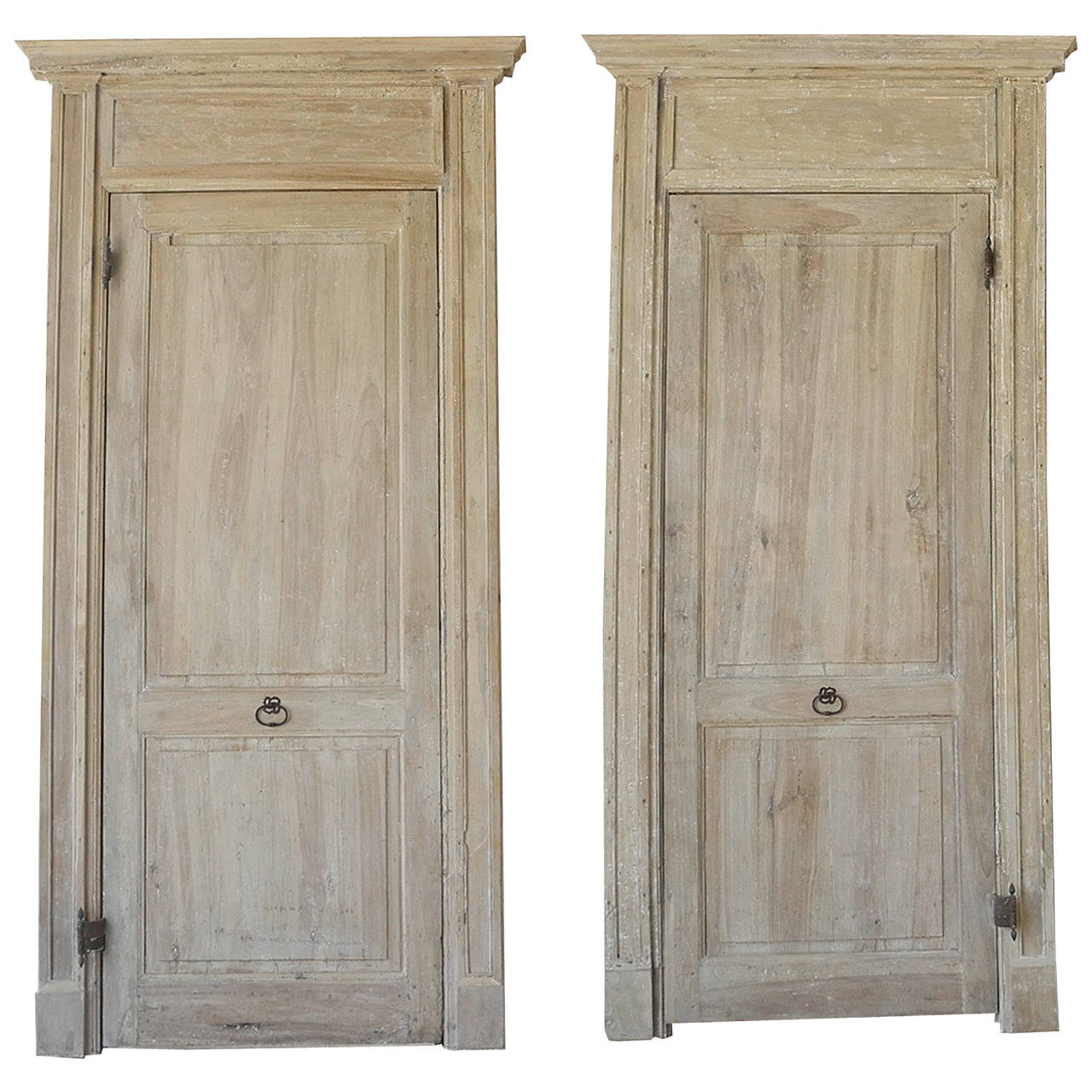 Pair of Antique 18th Century Doors with Frame For Sale - Pair Of Antique 18th Century Doors With Frame For Sale At 1stdibs